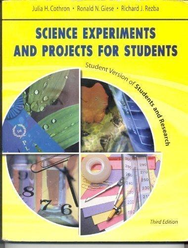 Science Experiments and Projects for Students