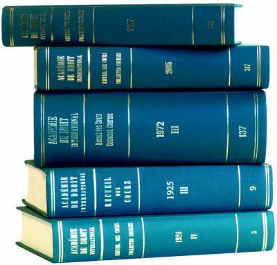 Recueil Des Cours, Collected Courses 1991
