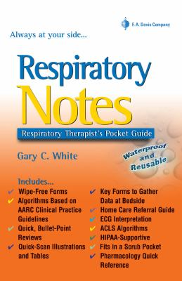 Respiratory Notes Respiratory Therapist's Pocket Guide
