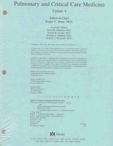 Pulmonary and Critical Care Medicine: Update 4