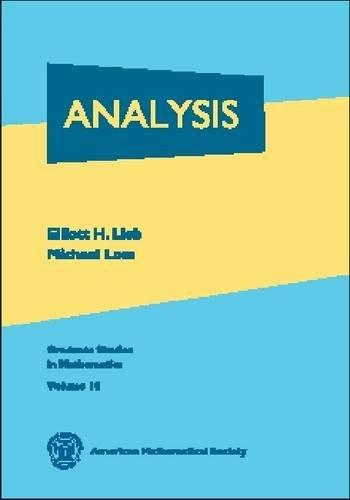 Analysis (Graduate Studies in Mathematics, V. 14)