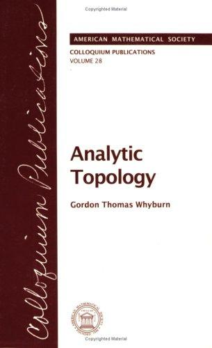 Analytic Topology (Colloquium Publications)