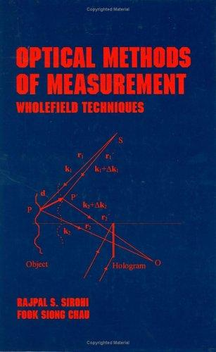 Optical Methods of Measurement: Wholefield Techniques (Optical Science and Engineering)