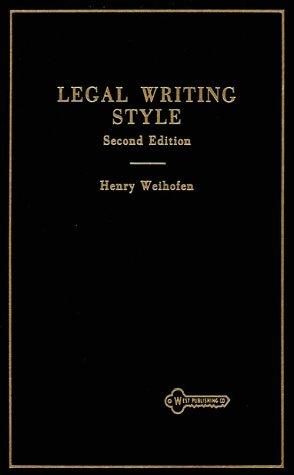 Legal Writing Style (Hornbooks)