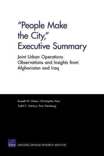 """People Make the City,"" Executive Summary: Joint Urban ..."