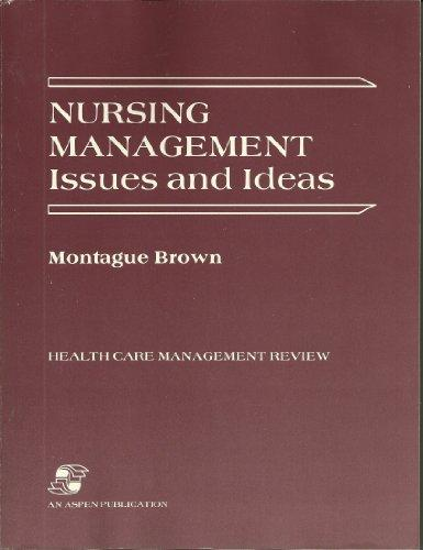 Nursing Management: Issues and Ideas (Health Care Management Review)