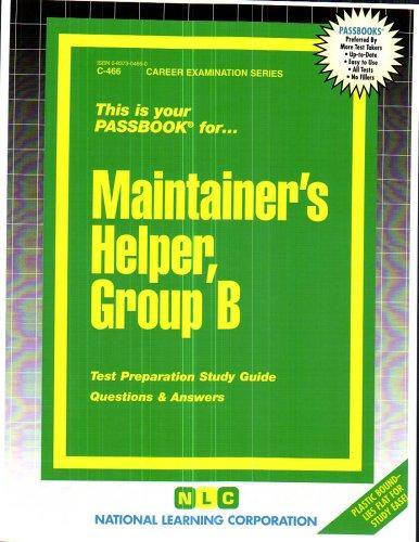 Maintainer's Helper, Group B(Passbooks) (C-466)