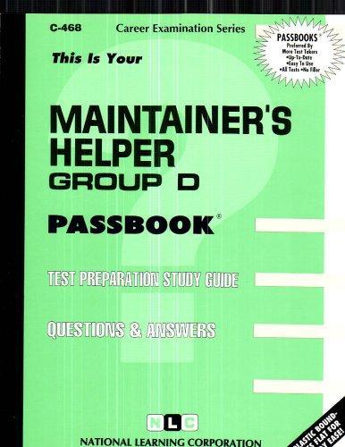 Maintainer's Helper, Group D(Passbooks) (C-468)