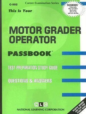 Motor Grader Operator Rent 9780837305028 0837305020