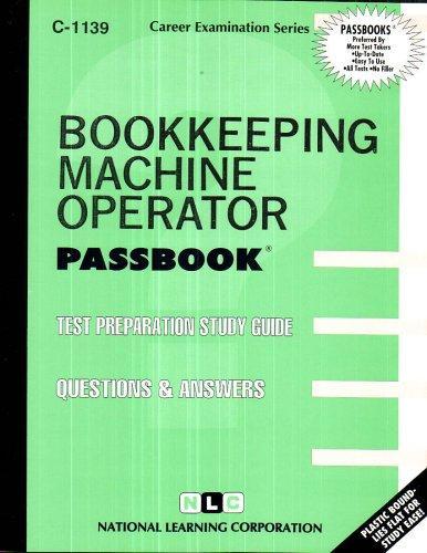 Bookkeeping Machine Operator(Passbooks)