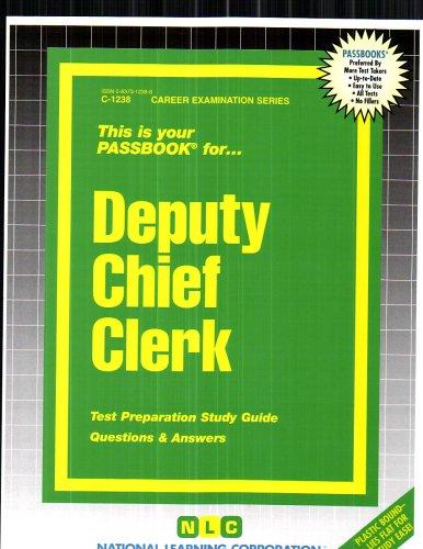 Deputy Chief Clerk(Passbooks) (Passbook for Career Opportunities)