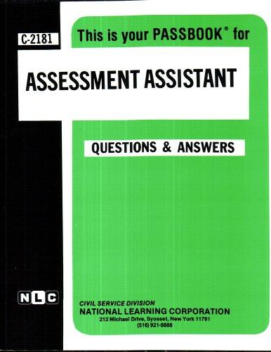Assessment Assistant(Passbooks) (Passbook for Career Opportunities)