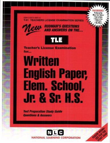 The Written English Paper: Elementary School, Junior High School, Senior High School (Teachers License Examination Series)(Passbooks)