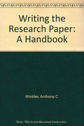 writing the research paper a handbook 6th edition Mla (modern language association) documentation and style based on the mla handbook for writers of research papers, 6th edition, 2003, written by joseph gibaldi.