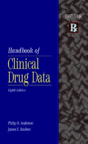 Handbook of Clinical Drug Data 1997-1998