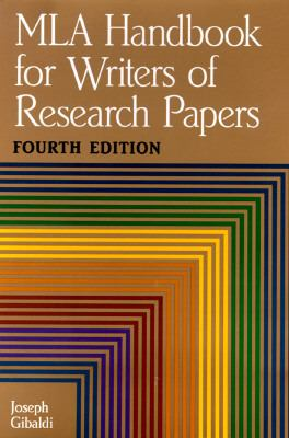 handbook for writers of research papers gibaldi Find great deals for mla handbook for writers of research papers by joseph gibaldi and modern language association of america staff (2009, paperback, new edition).