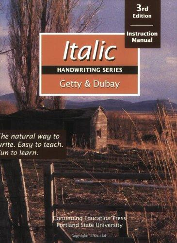 Italic Handwriting Series: Instruction Manual