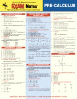 Pre-calculus Exam Notes