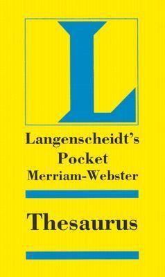Langenscheidt Pocket Merriam-Webster Thesaurus