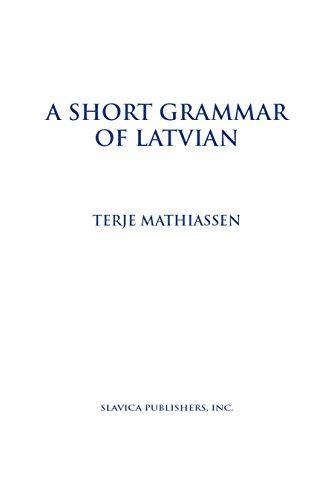 Short Grammar of Latvian