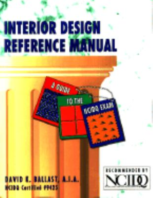 Interior design reference manual rent 9780912045412 for Interior design reference images