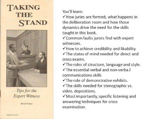 Taking the stand: Tips for the expert witness