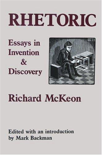 discovery essay in invention rhetoric Rhetoric : essays in invention and discovery internet archive books essays on rhetoric jun 28, 2010 06/10.