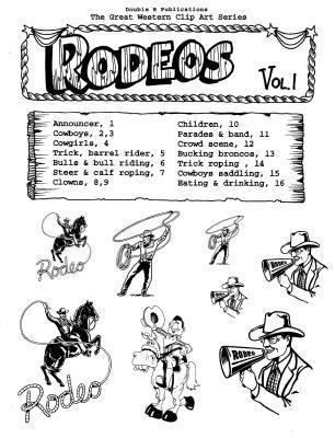 Great Western Clip Art: Rodeos, Vol. 1