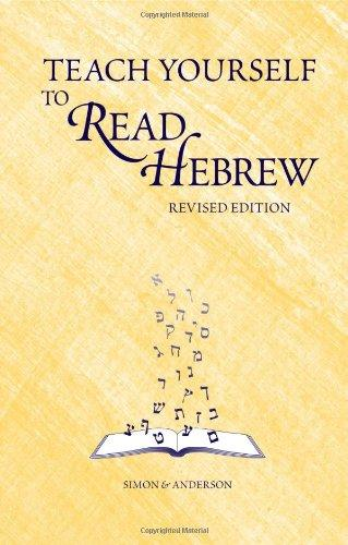 teach yourself to read hebrew pdf