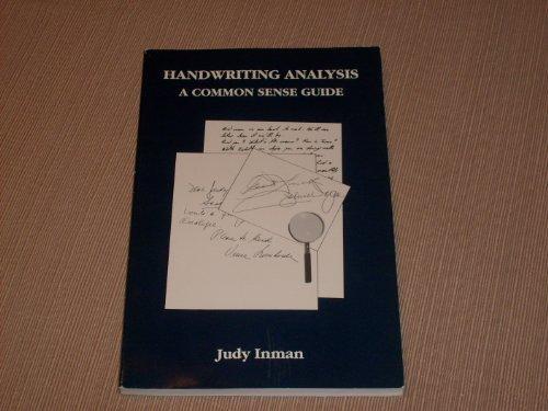 Handwriting Analysis A Common Sense Guide
