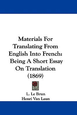 Materials For Translating From English Into French