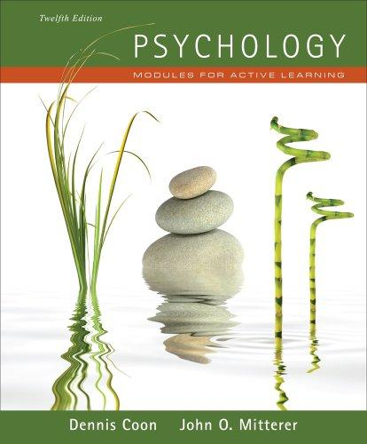 Cengage Advantage Books: Psychology: Modules for Active Learning (with Concept Modules with Note-Taking and Practice Exams Tearout Cards)