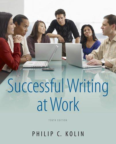 successful writing at work philip c  kolin free download