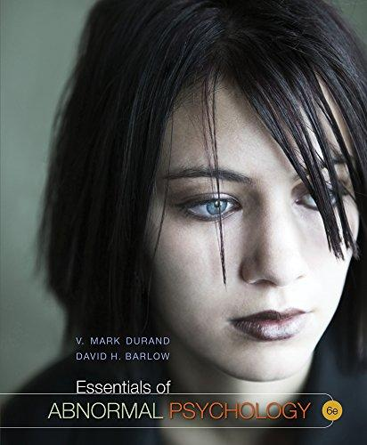 Cengage Advantage Books: Essentials of Abnormal Psychology