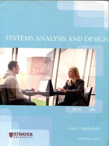 Test bank for Systems Analysis and Design 9th edition Kenneth E. Kendall Julie E. Kendall