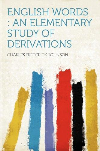 English Words: an Elementary Study of Derivations
