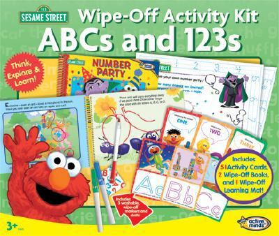 Sesame Street ABCs and 123s Wipe-off Activity Kit