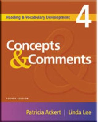Concepts & Comments (Reading & Vocabulary Development)
