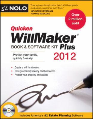 Quicken Willmaker Plus 2012 Edition: Book & Software Kit