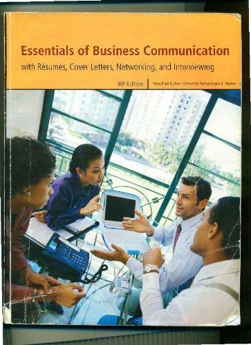 essentials of business communication with resumes rent