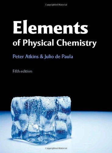 Solutions Manual for Elements of Physical Chemistry