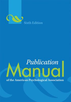 Publication Manual of the American Psychological Association Spiral