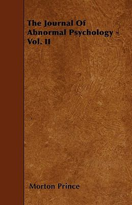 The Journal Of Abnormal Psychology - Vol. II