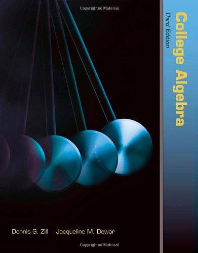 College Algebra (The Jones & Bartlett Learning International Seriesi N Mathematics)