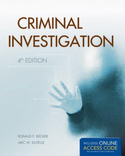 criminal investigation 4th edition becker pdf