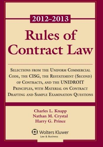 Rules of Contract Law 2012-2013 Statutory Supplement