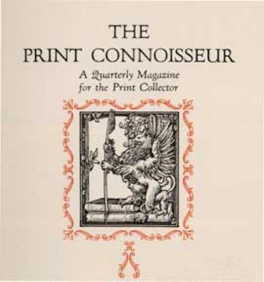 Print Connoisseur Complete Index 1920-1932