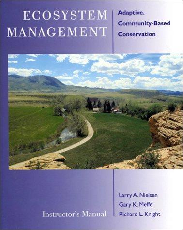 Ecosystem Management Instructor's Manual: Adaptive Community-Based Conservation