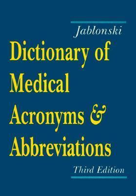 Medical abbreviation dictionary