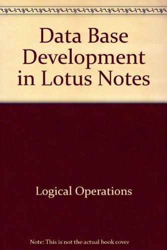 Database Development in Lotus Notes